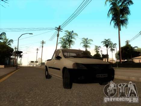 Дачия Логан пикап Necarosat для GTA San Andreas вид слева