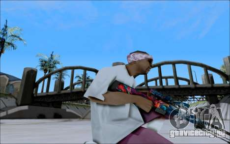 AWP Hyper Beast для GTA San Andreas третий скриншот