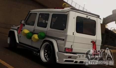 Mercedes Benz G65 Hamann Tuning Wedding Version для GTA San Andreas вид слева