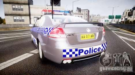 Holden VE Commodore SS Highway Patrol [ELS] для GTA 4 вид сзади слева