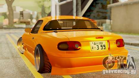 Mazda MX-5 BnSports для GTA San Andreas вид сзади слева