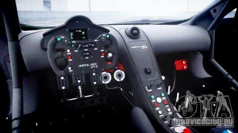 McLaren MP4-12C GT3 blank liveries для GTA 4 вид изнутри