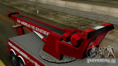 FDSA Heavy Rescue Truck для GTA San Andreas вид справа