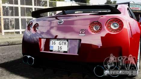 Nissan GT-R AMS 2012 для GTA 4 вид справа