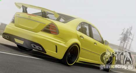 Mercedes-Benz E63 Qart Tuning для GTA San Andreas вид изнутри