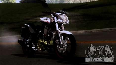 Yamaha Vixion Advance Lominous White для GTA San Andreas