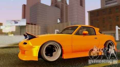 Mazda MX-5 BnSports для GTA San Andreas вид снизу