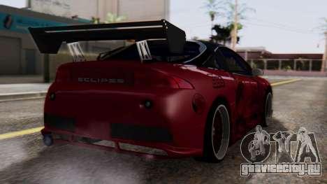 Mitsubishi Eclipse GSX 1999 Mugi Itasha для GTA San Andreas вид слева