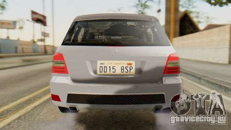 Mercedes-Benz GLK320 2012 для GTA San Andreas вид сзади