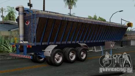 Trailer Silos для GTA San Andreas вид слева