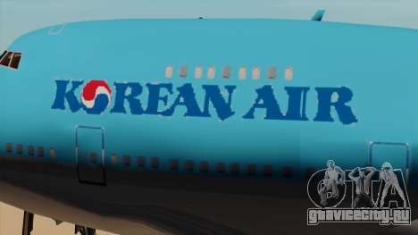 Boeing 747 Korean Air для GTA San Andreas вид сзади