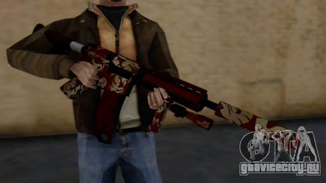 M4A1 Royal Dragon для GTA San Andreas третий скриншот