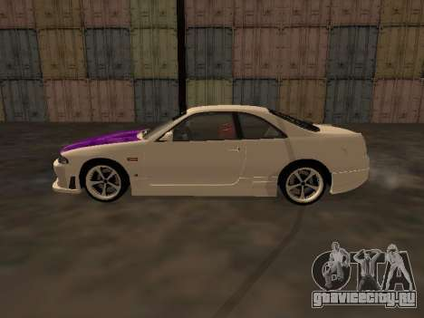 Nissan Skyline R33 Drift Monster Energy JDM для GTA San Andreas вид слева