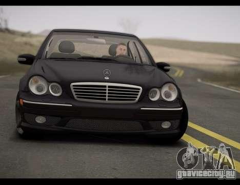 Mercedes-Benz C32 W203 2004 для GTA San Andreas вид сзади слева