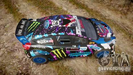 Ford Fiesta RS Ken Block 2015 для GTA 4 вид справа
