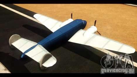 Бомбардировщик v1.0 для GTA San Andreas вид сзади слева