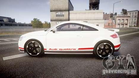 Audi TT RS 2010 Quattro для GTA 4 вид слева