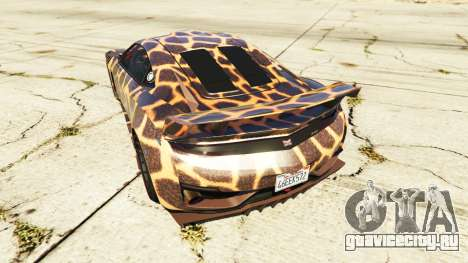 Dinka Jester (Racecar) Cheetah для GTA 5 вид сзади слева