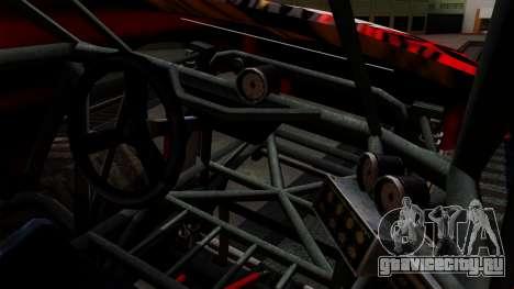 The Seventy Monster v2 для GTA San Andreas вид изнутри