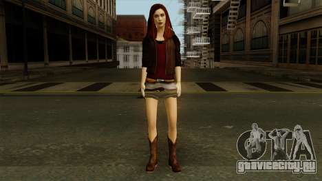 Amy Pond from Doctor Who для GTA San Andreas второй скриншот