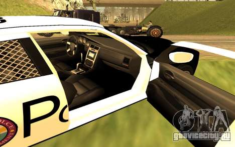 Dodge Charger Super Bee 2008 Vice City Police для GTA San Andreas вид сзади слева