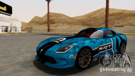 Dodge Viper SRT GTS 2013 HQLM (MQ PJ) для GTA San Andreas вид сверху