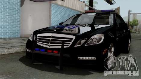Mercedes-Benz E63 AMG Police Edition для GTA San Andreas