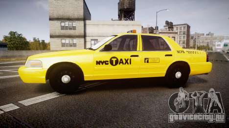 Ford Crown Victoria 2011 NYC Taxi для GTA 4 вид слева