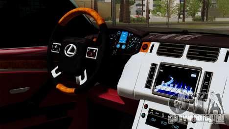 Lexus GX460 2014 v1 для GTA San Andreas вид справа