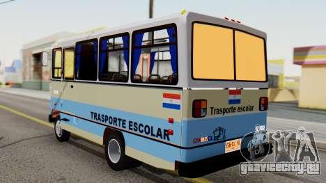 Mercedes-Benz LO-608D Paraguay School Bus для GTA San Andreas вид слева