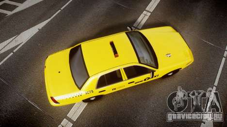 Ford Crown Victoria 2011 NYC Taxi для GTA 4 вид справа