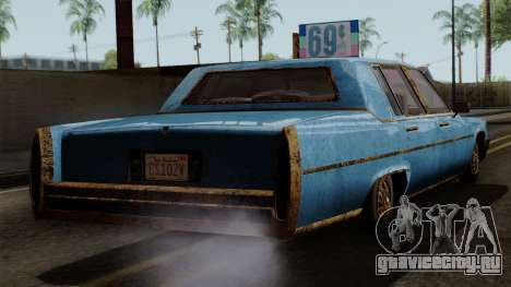 GTA 5 Albany Emperor Worn для GTA San Andreas вид слева