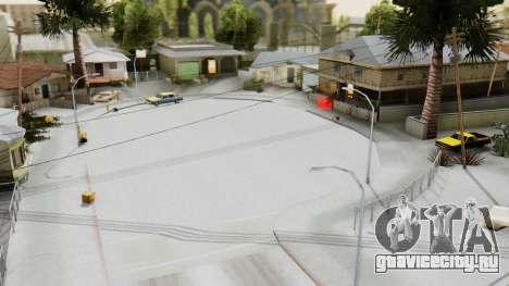 Winter Grove Street для GTA San Andreas