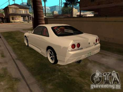 Nissan Skyline R33 Drift Monster Energy JDM для GTA San Andreas вид сзади слева