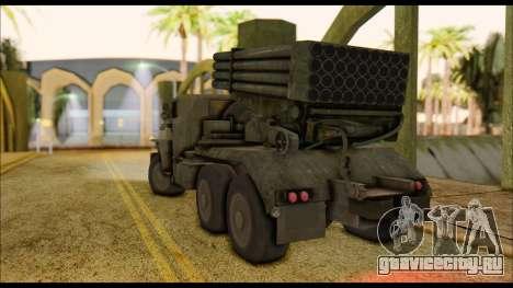 BM-21 Grad CoD MW для GTA San Andreas вид слева
