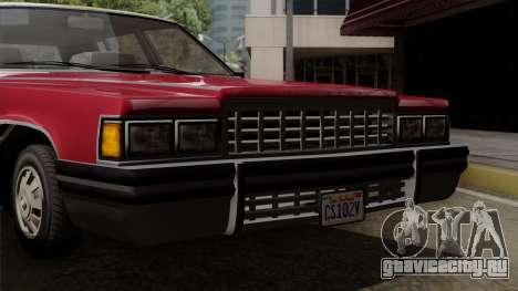 GTA 5 Albany Emperor IVF для GTA San Andreas вид сзади