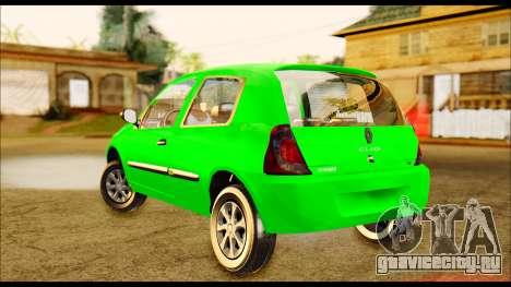 Renault Clio Mio для GTA San Andreas вид сзади слева