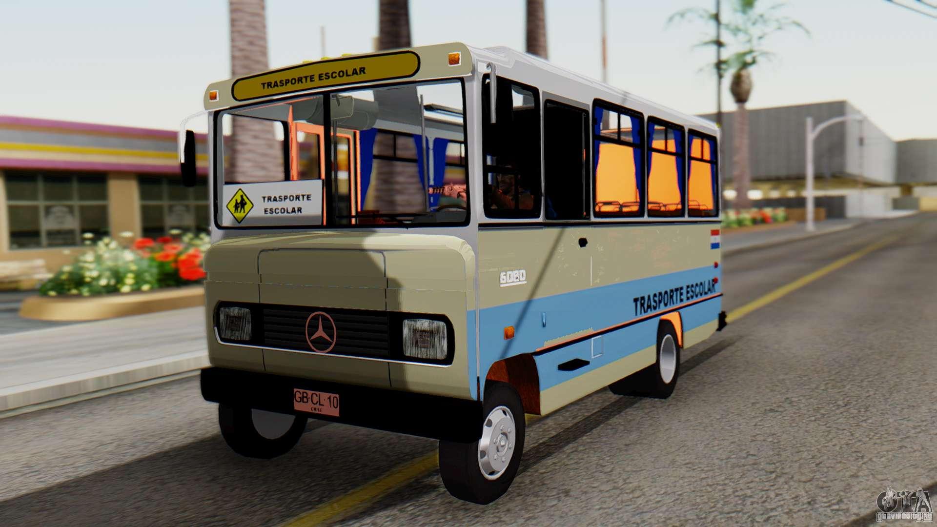 Mercedes benz lo 608d paraguay school bus gta san andreas for Mercedes benz school
