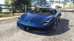 Ferrari 458 Italia v1.0.5 для GTA 5