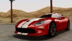 Dodge Viper SRT GTS 2013 HQLM (MQ PJ) для GTA San Andreas