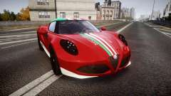 Alfa Romeo 4C 2014 SBK Safety Car для GTA 4