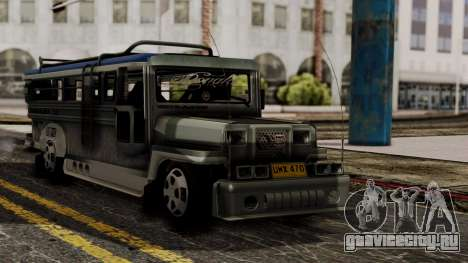 Milwaukee Motors Custom Jeepney для GTA San Andreas