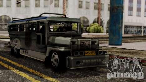 Milwaukee Motors Custom Jeepney для GTA San Andreas