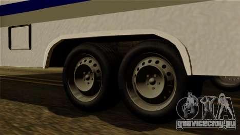 Camper Trailer для GTA San Andreas вид сзади слева