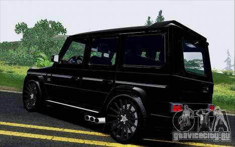 Mercedes Benz G65 Black Star Edition для GTA San Andreas вид сзади слева