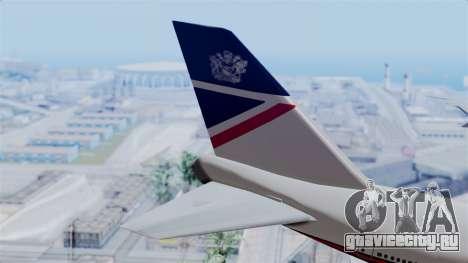 Boeing 747 British Airlines (Landor) для GTA San Andreas вид сзади слева