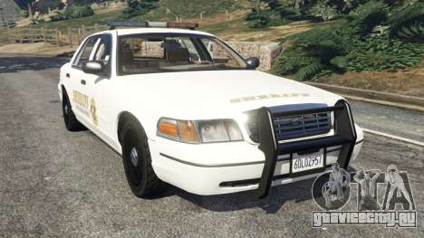 Ford Crown Victoria 1999 Sheriff v1.0 для GTA 5