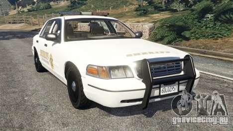Ford Crown Victoria 1999 Sheriff v1.0 для GTA 5