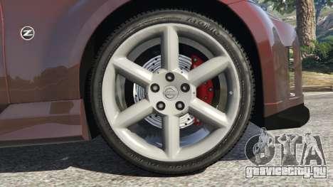 Nissan 350Z для GTA 5 вид сзади справа