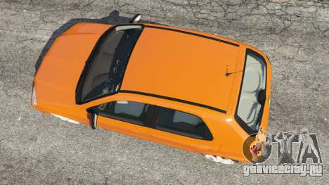 Chevrolet Celta для GTA 5 вид сзади